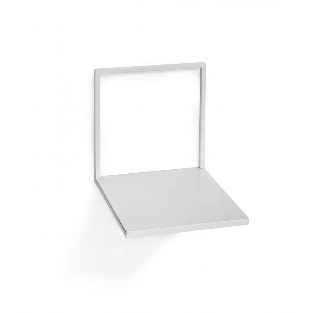 Metal wall shelf / White / S