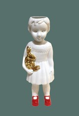 Witte pop als vaasje van Lammers en Lammers