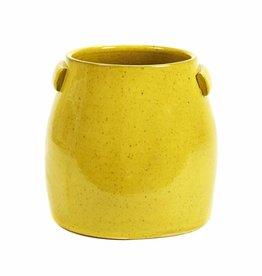 Gele bloempot / M