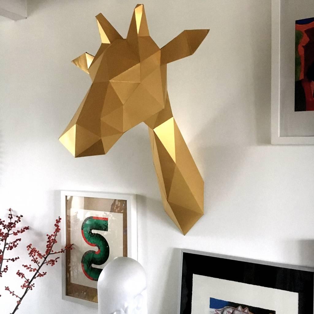 Papieren Giraffe / Goud