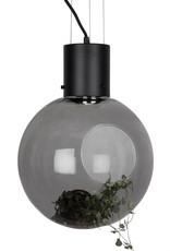 """Design hanglamp """"Globe"""" van rookglas"""