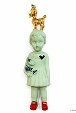 Green doll with poodle by Lammers and Lammers