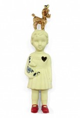 Yellow doll with poodle by Lammers and Lammers