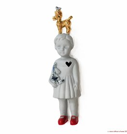 Doll With Poodle / Grey