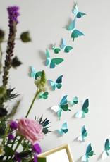 24 Paper Butterflies / Green
