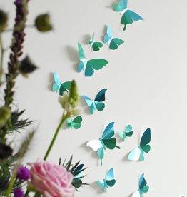 24 Papieren Vlinders / Groen