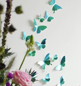 28 Paper Butterflies / Green
