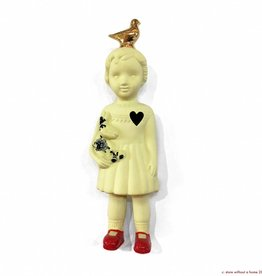 Doll with Pigeon / Yellow