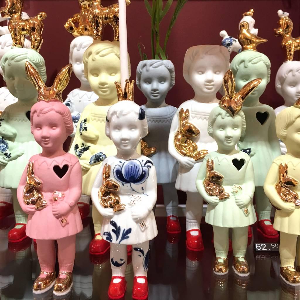 Gele pop als vaasje van Lammers en Lammers