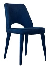 Velvet Chair / Blue - without arms