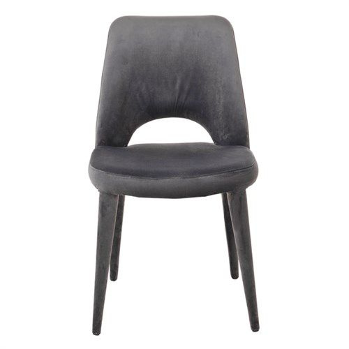 Velvet Chair / Grey - without arms