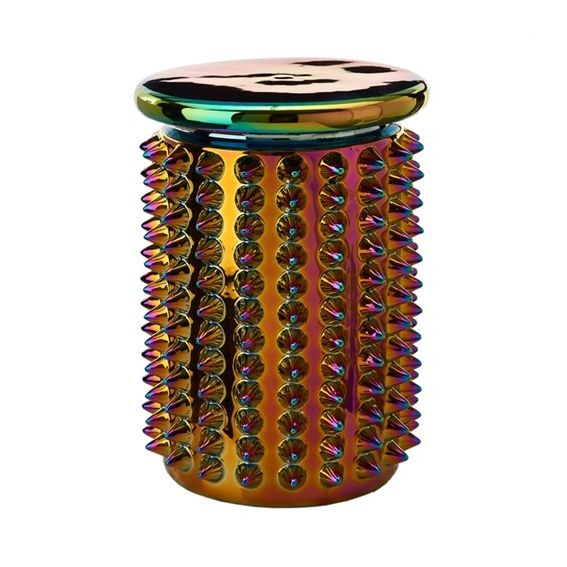 Ceramic Stool or Table / Oily Spikes