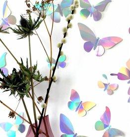 24 Papieren Vlinders / Regenboog
