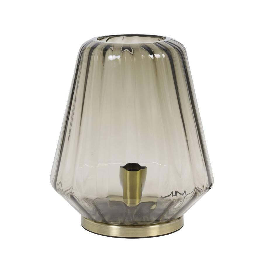 Glass Table Lamp / Gustav / Brown
