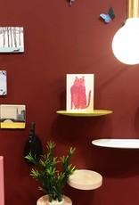 Modern design floating ceramic wall shelf