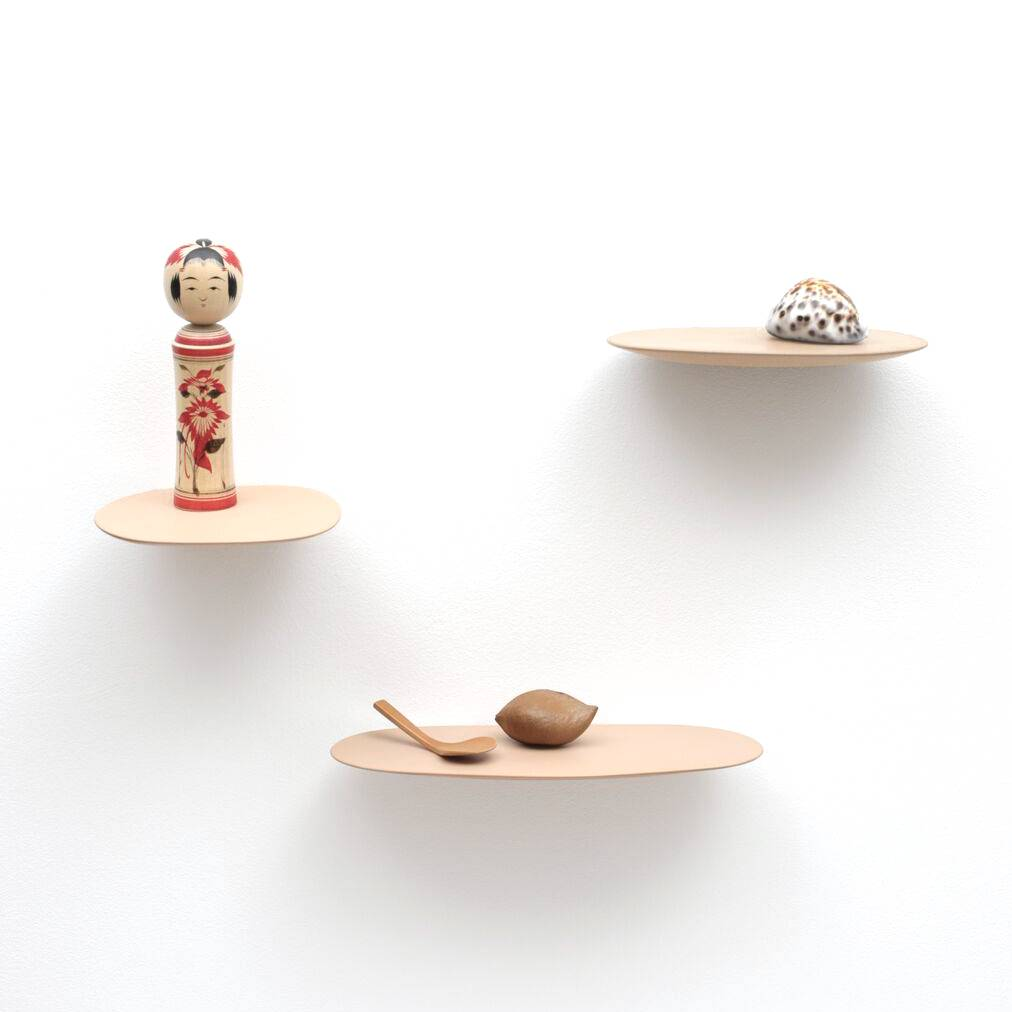 Wandplankje keramiek / L / Poeder Roze