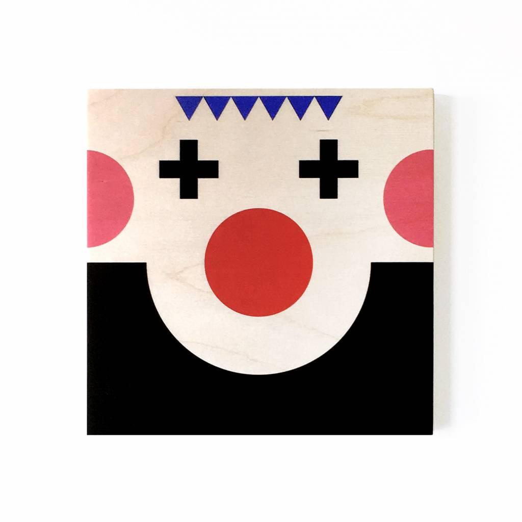 """Wallflower portret op hout """"Miko"""""""
