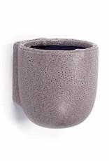 Purple ceramic wall pot