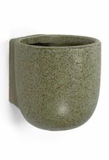 Wandpot van groen keramiek
