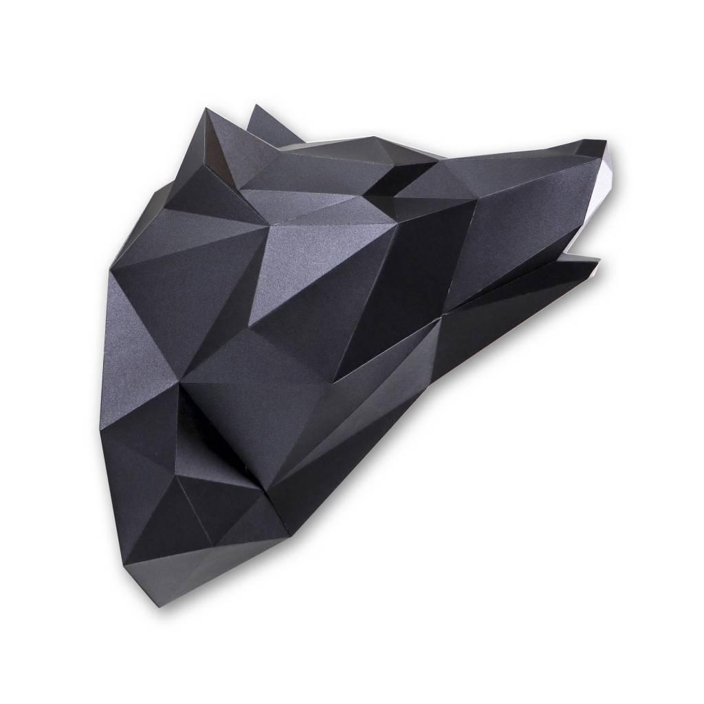 Papieren Wolf / Zwart metallic