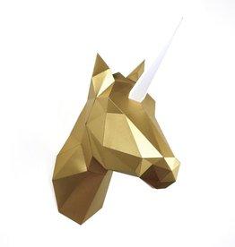 Papieren Eenhoorn & Paard / Goud