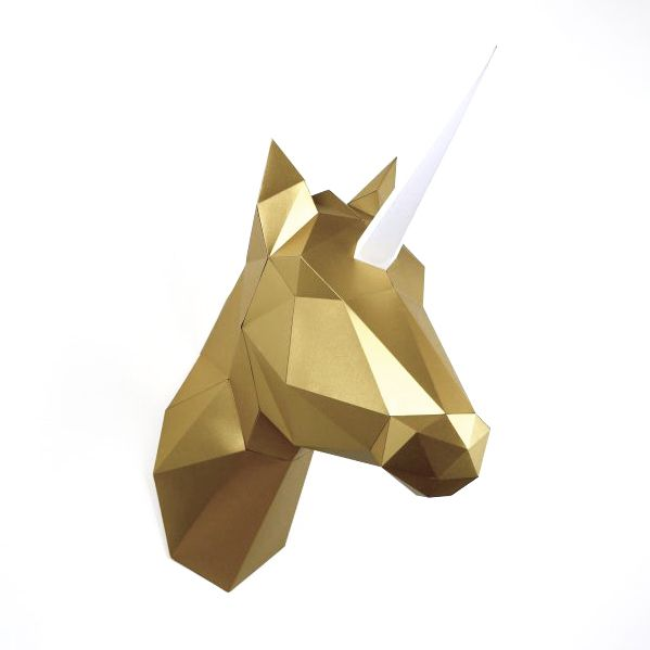 Paper Unicorn or Horse / Gold