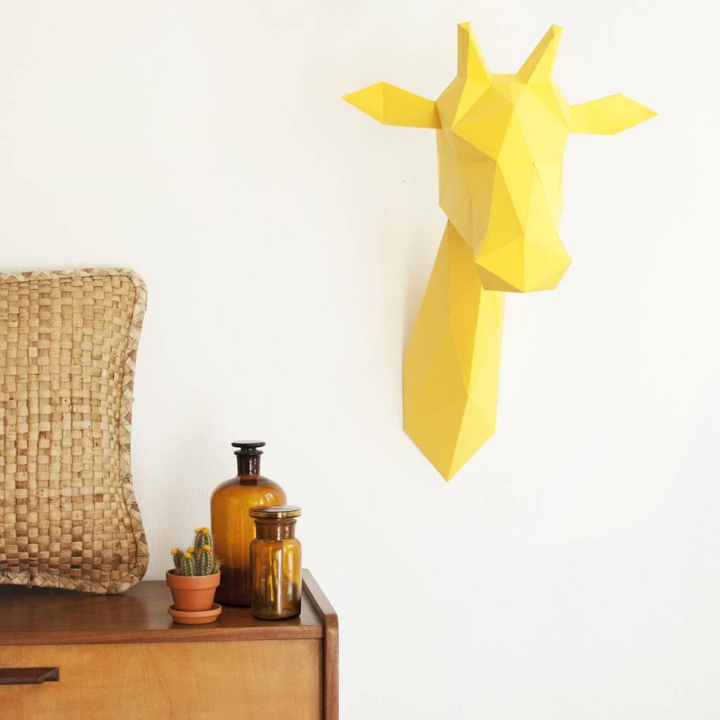 Papieren giraffe dierenkop