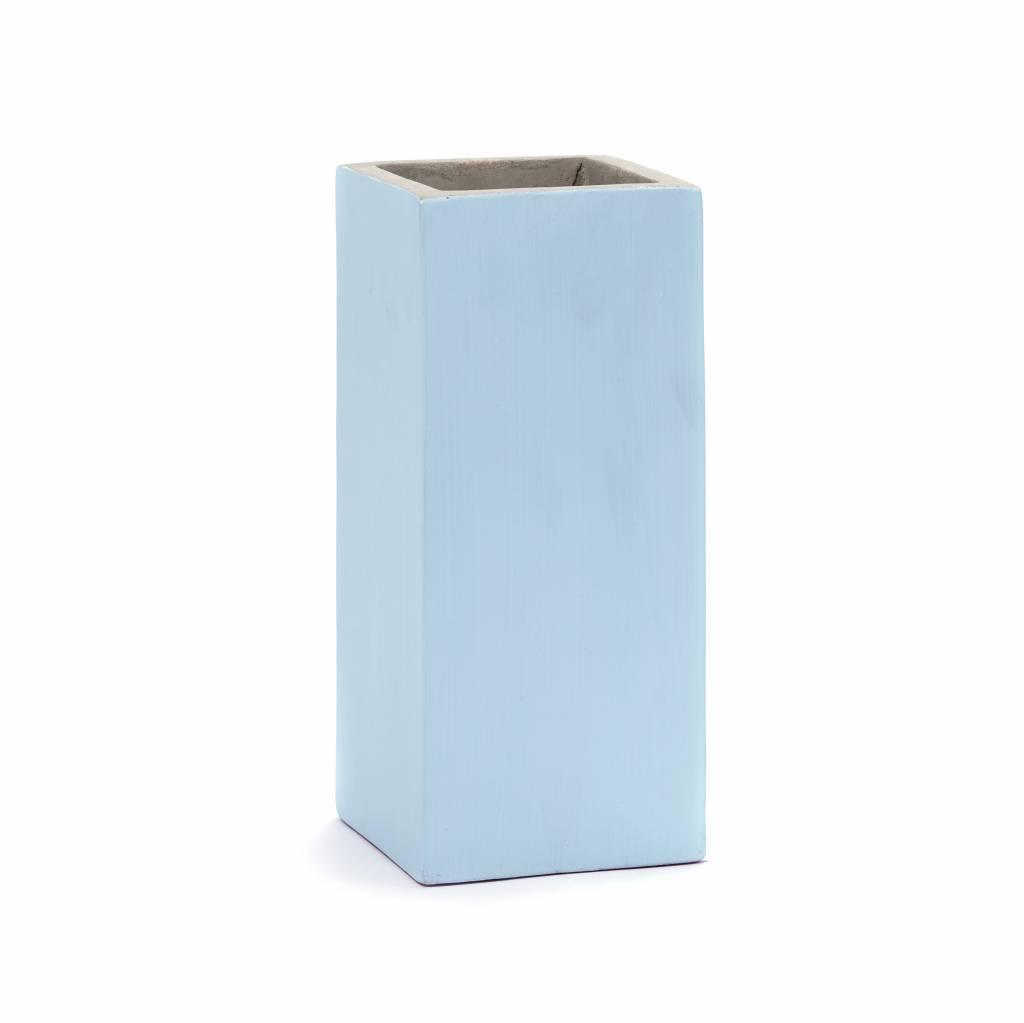 Light blue square plamter or flower pot