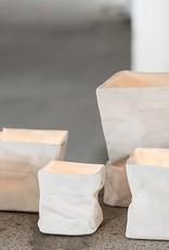 Porseleinen zakje voor waxinelicht