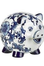 Piggy Bank with Delft Blue decor