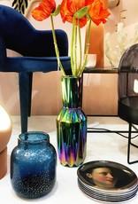 "Blue glass vase ""Sparkle"""