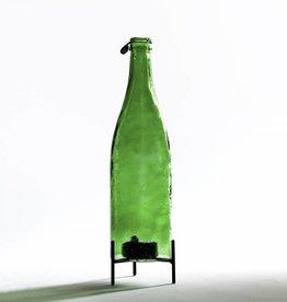 Waxinelichthouder Fles / Groen