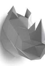 Paper rhino trophy head