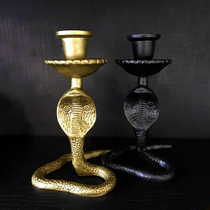 Kandelaar / Cobra / Zwart