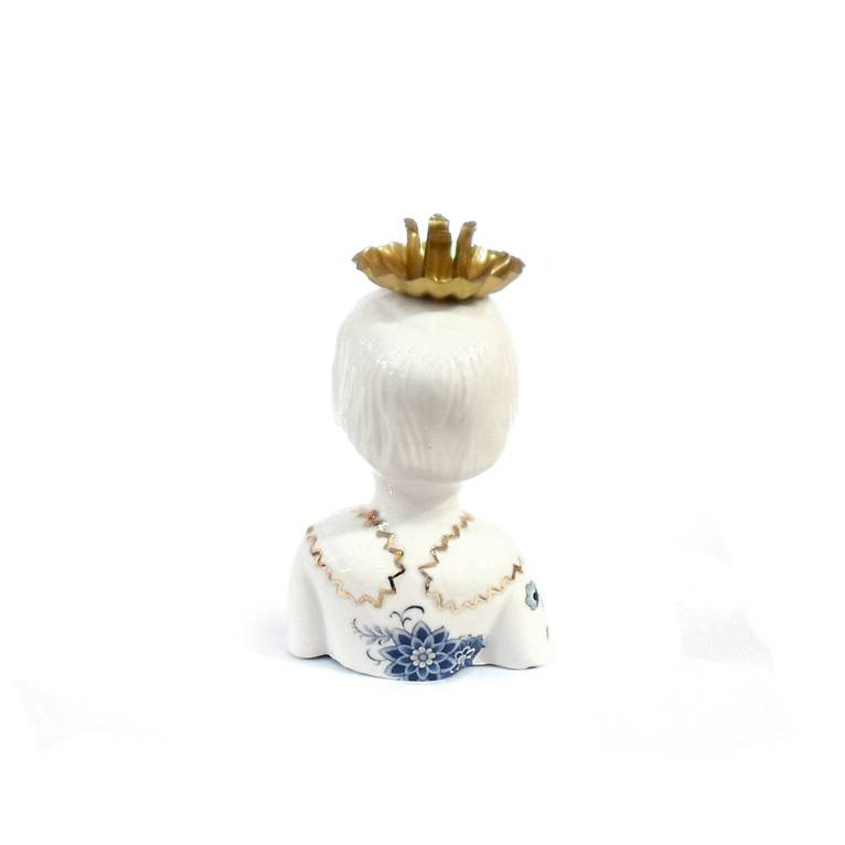 Porcelain doll candlestick by Lammers & Lammers