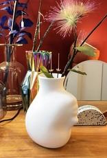 Vaas van keramiek in de vorm van een hoofd