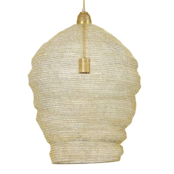 "Gaaslamp hanglamp ""Garza"" van goud metaal"