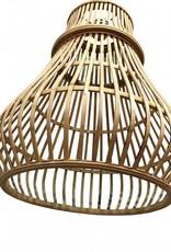 "Modern bamboo pendant light ""Simba"" small"