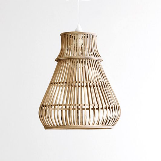 """Moderne bamboe hanglamp """"Simba"""" small"""