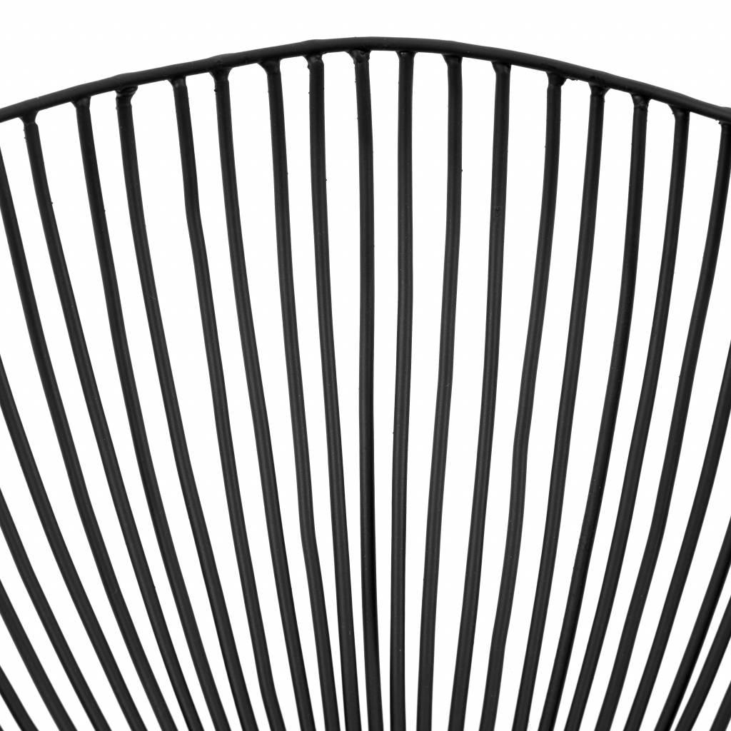 Design fruitschaal van zwart metaal