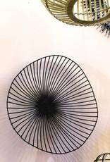 Modern design metal fruit bowl in black