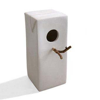 Design vogelhuisje van keramiek