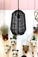 "Black rattan pendant light ""Linus"""