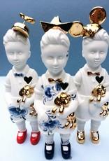 """Mini popje """"Kleine Jongen"""" met pet"""