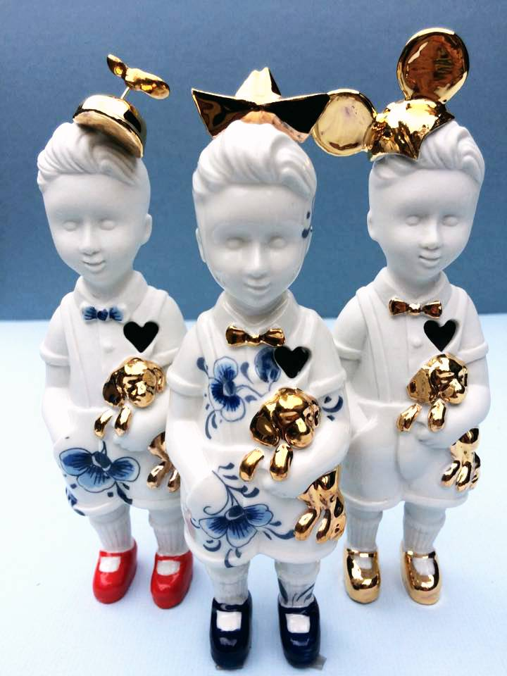 """Mini popje """"Kleine Jongen"""" met hoedje"""