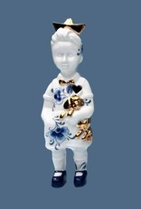 """Ceramic doll """"Little Boy"""" with hat"""