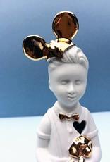 """Mini popje """"Kleine Jongen"""" met Mickey Mouse oren"""