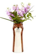 Ceramic fox vase