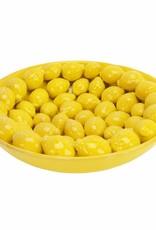 Large ceramic fruit bowl in the shape of lemons