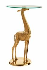 Messing giraffe bijzettafel